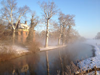 Misty morning on the banks of the Kromme Rijn near the Estate Rhijnauwen