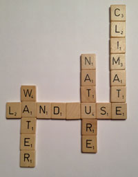 Water, land use, nature, climate in Scrabble